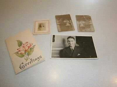 Vintage 1959 (Dated) Hand Made Greeting Card/Xmas And Photos - Just Gorgeous