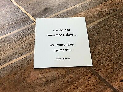 """Quotable Cards Magnet """"We Do Not Remember Days..."""" - Cesare Pavese, Square, B&W"""
