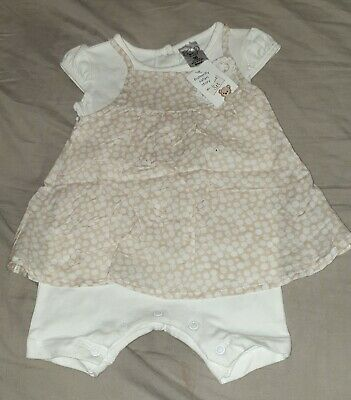 4xGorgeous baby girls size 00 embroidered/floral summer dress rompers
