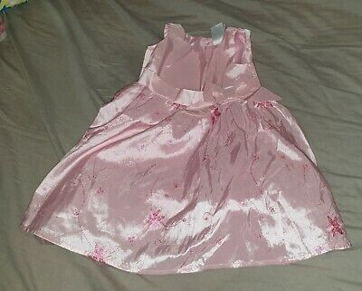 NEW Gorgeous baby girls size 00 pink embroidered summer party dress