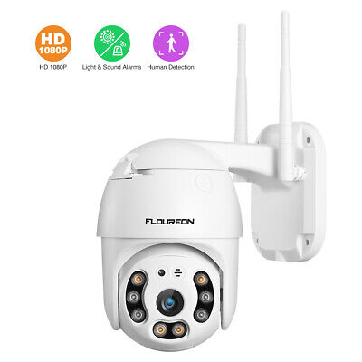 FLOUREON 1080P HD Wireless Caméra IP Camera WiFi Smart Surveillance Camera P/T