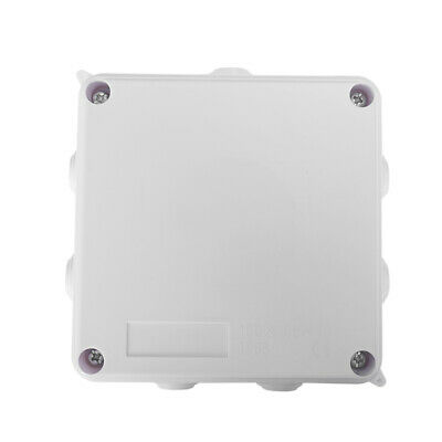 White ABS IP65 Waterproof Enclosure Square Junction Box 100x100x70mm S8B7