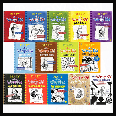 Diary Of A Wimpy Kid Collection 🔥 14 Books 🔥 Set By Jeff Kinney (E-B0K&AUDI0B0