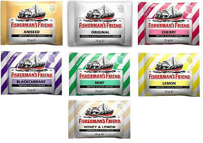 12 - 24 x Fisherman's Friend Lozenges 25 gm (Choose your Flavour) Menthol