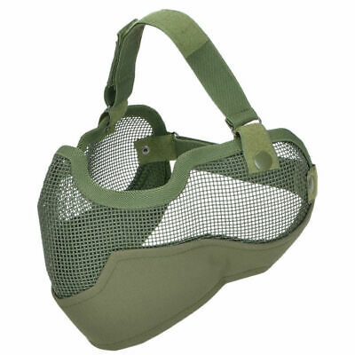 MFH Airsoft Half Face Protector Paintball Tactical Safety Olive