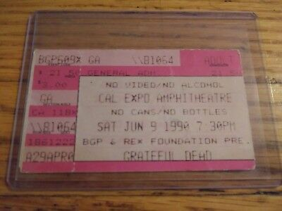 Grateful Dead, Ticket, Cal Expo, Sacramento, CA 06/09/1990,