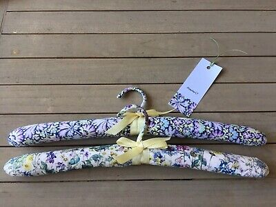 New Pair Liberty of London Padded Coat Hangers for Mothers Day