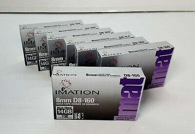 """""""BRAND NEW"""" 7 x IMATION 8mm D8-160 7GB/14GB DATA TAPE CARTRIDGE """"MADE IN JAPAN"""""""