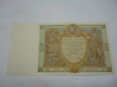 Poland - 1929 -   50 zlotych.. P71... Almost Uncirculated