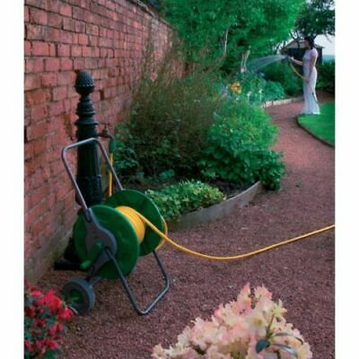 Kingfisher Portable Garden Hose Pipe Trolley Cart Reel Rust Proof Best Quality