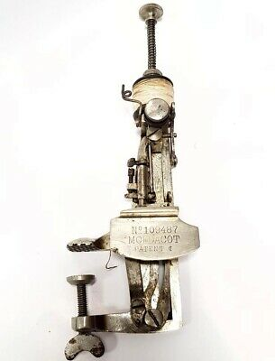 Antigua maquina de coser siglo 19 MOLDACOT antique miniature sewing machine 1886