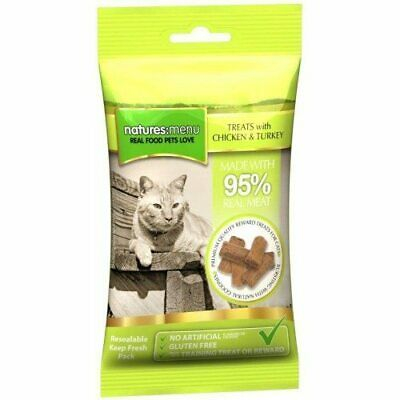 Natures Menu Chicken with Turkey Meaty Cat Treats   Cats