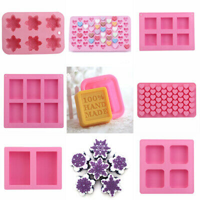 Silicone Handmade Soap Mould Ice Cube Cake Chocolate Pudding Mold Baking Tools