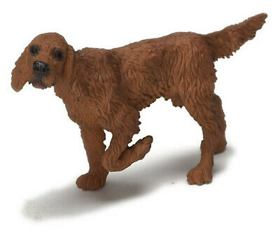 Dollhouse Miniature Dog Brittany Spaniel Hunting Dog Intact Male 1:12 Scale Pet