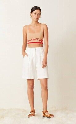 bec and bridge White Linen Shorts Size 10