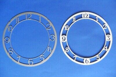 TWO NEW OLD STOCK SKELETONISED ZONE DIALS FOR c1930s-1950s MANTEL CLOCKS - LOT 4