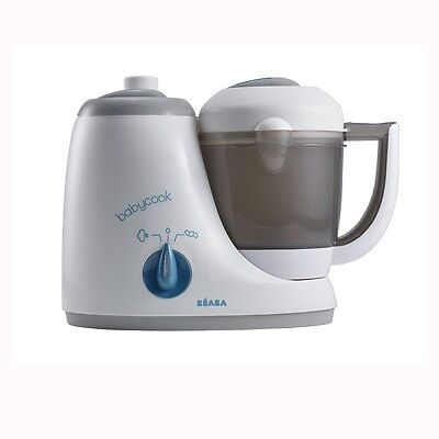 Beaba BabyCook Original 4-in1 Babyfood Maker – Grey/Blue