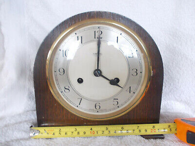 AN EARLY SMITHS-ENFIELD MANTEL CLOCK, not working sold as spares or repair
