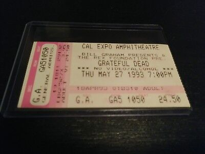 Grateful Dead Ticket Stub, Cal Expo, 05/27/1993