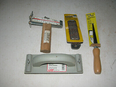 Goldblatt Strip Gauge,Walboard Hand Sander WHS-76,Surform Rasp,Drywall Saw