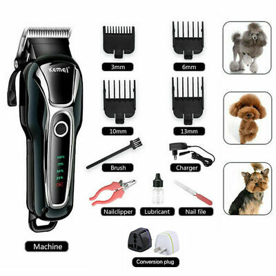 11pc Pet Grooming Kit Dog Cat Shaver & Nail Clippers Hair Trimmer Clipper Set UK