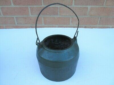 Vintage Military army ? Holcroft cast iron glue melting pot tool, base only