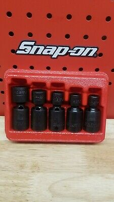 """NEW Snap-on™ 3//8/"""" drive 7//16/"""" to 3//4/"""" 6point Impact Swivel Socket 5-piece 205IPF"""