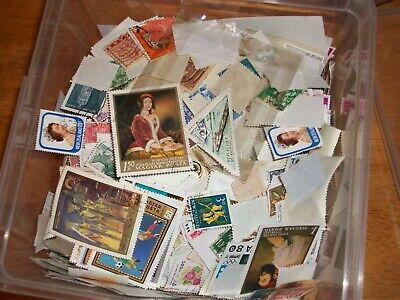 300 gm (before packaging) clean used world stamps off paper actual stamps