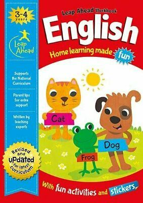 Leap Ahead Workbook __ English 3-4 Years __ Brand New __ Freepost Uk