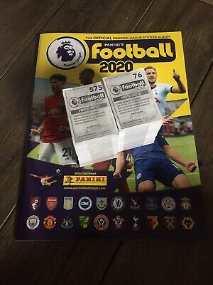 Premier league 2020. Panini Football  COMPLETE LOOSE SET (636) stickers & Album