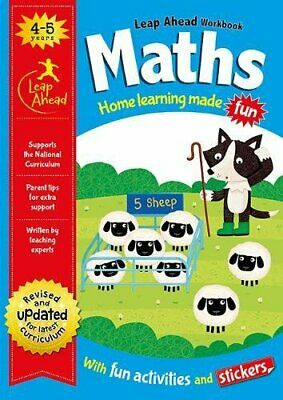 Leap Ahead Workbook __ Maths 4-5 Years __ Brand New __ Freepost Uk