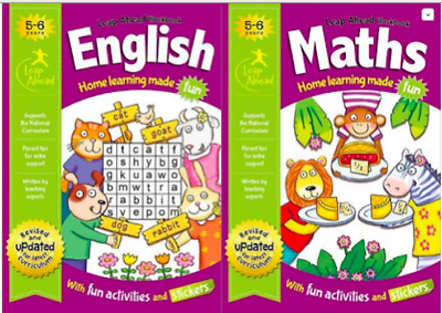 Leap Ahead Workbook Set __ English & Maths 5-6 Years __ Brand New __ Freepost Uk