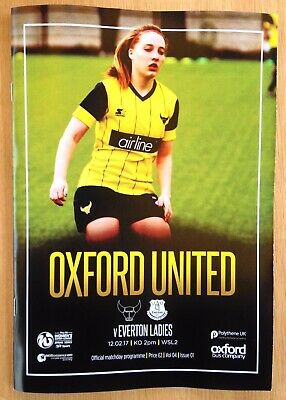 Oxford United Women v Everton Ladies - WS2 League Programme - Played 12/02/2017