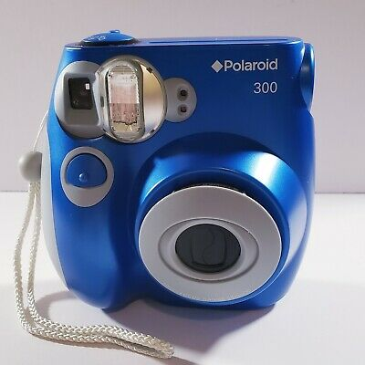 Polaroid 300 Instant Film Camera [BLUE] - Instax Film - Tested - Working