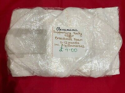 Clevamama Supporting Baby Pillow-Breathable Foam, Incl. 3 Pillowcases, 0-12 Mnth