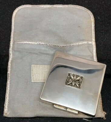 Vintage Georg Jensen Sterling Silver Classic Acorn Pattern Ladies Compact RARE