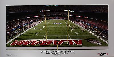 ALABAMA football vs LSU 2011 BCS panoramic stadium print
