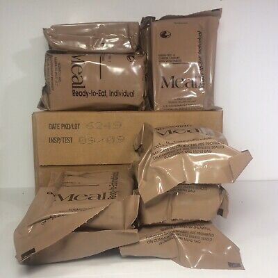 MRE Case A Meal Ready To Eat Case Of 12 Individually Sealed MRE Meals NOS