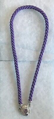 Judith Ripka 925 Rope Necklace Purple