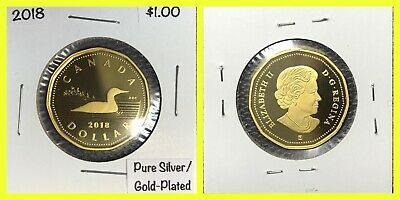 2018 Silver Gold-Plated *Proof* Loonie - Frosted/Mirrored