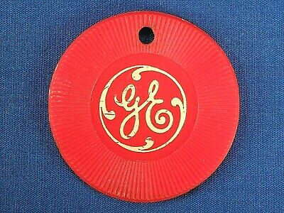 Vintage 1950's General Electric GE Plastic Key Chain Fob Token Poker Chip