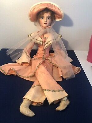 Antique Boudoir Keeneye Doll With Period Lounge Pantsuit