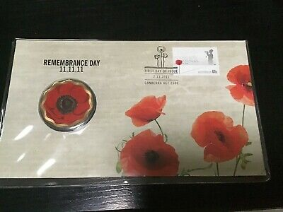 2011 Remembrance Day Pnc $5 Poppy Coin