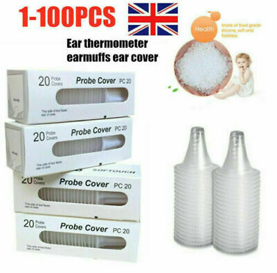 100x Braun Probe Covers Thermoscan Replacement Lens Ear Thermometer Filter Cap r