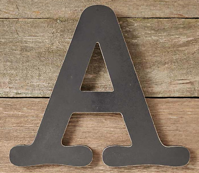 Wooden Wall Hanging Letter A Decor Courier Typewriter Font Distressed Finish