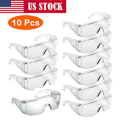 Safety Goggles Glasses Eye Protection Clear Lens Work Lab Anti Fog 1-10 PCS Lot