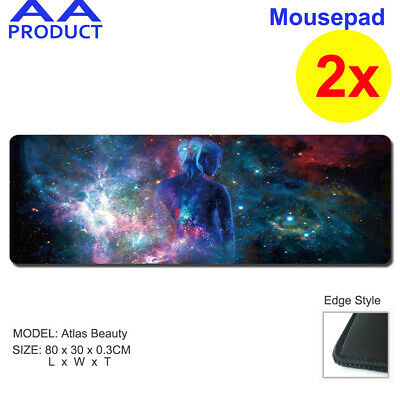 2x Extra Large Mousepad Keyboard Pad Mouse Mat Game Laptop Computer Atlas Beauty