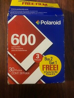 Polaroid 600 Instant Film 3 Pack Expired 11/2005 - 30 Photos New( Open Box)
