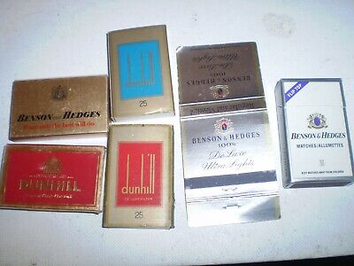 SIX  old  cigarette match boxes books covers Dunhill, Benson & Hedges
