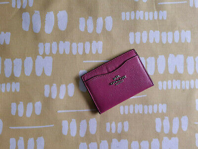 COACH Pink Leather Card Case